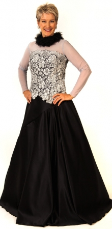 Keely lace bodice with tulle, Oakley skirt