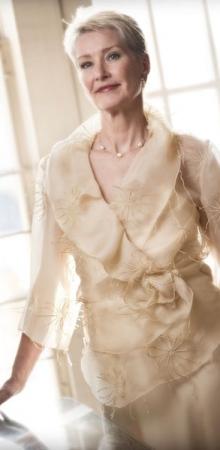 Silk embroidered bodice