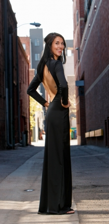 Alexi dress side view