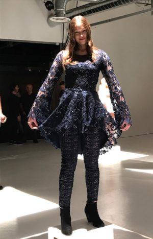 Sequins, navy blue, lace, mesh , dress, leggings