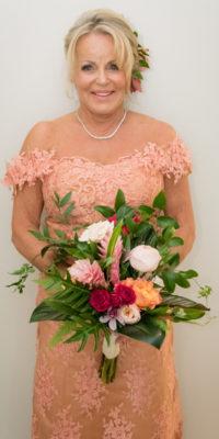 custom wedding dress high altitude photography