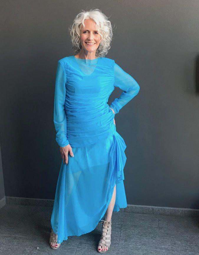turquoise dress denver designer