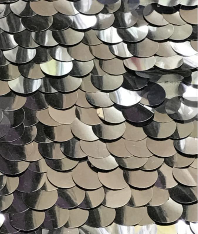 silver sequin paillettes