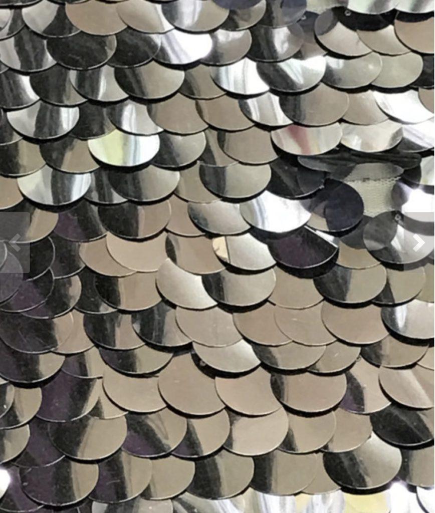 silver paillettes