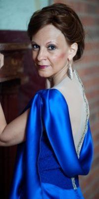 blue custom designed dress denver