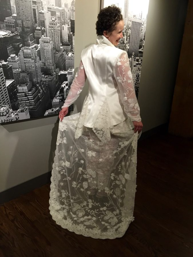 custom made lace ensemble dress preservation