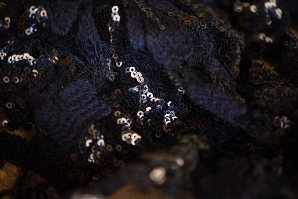black sequins clothing design