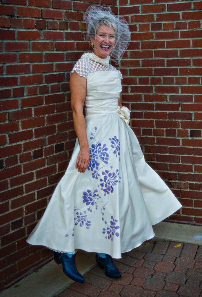 hand painted dress preservation