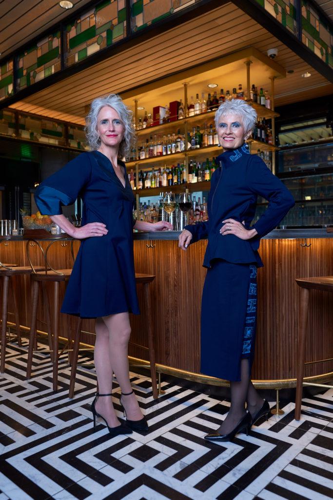 navy dress denver clothing designer brooks ltd