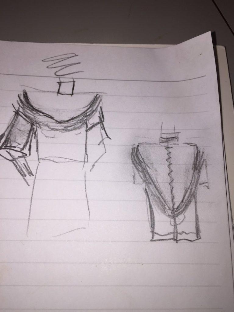 process of designing a custom dress