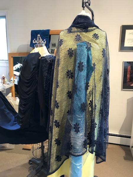 black sequin fabric custom fashion design denver