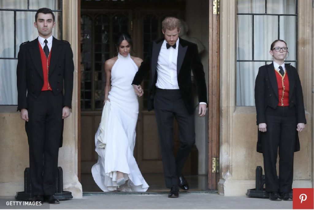 meghan markel reception dress