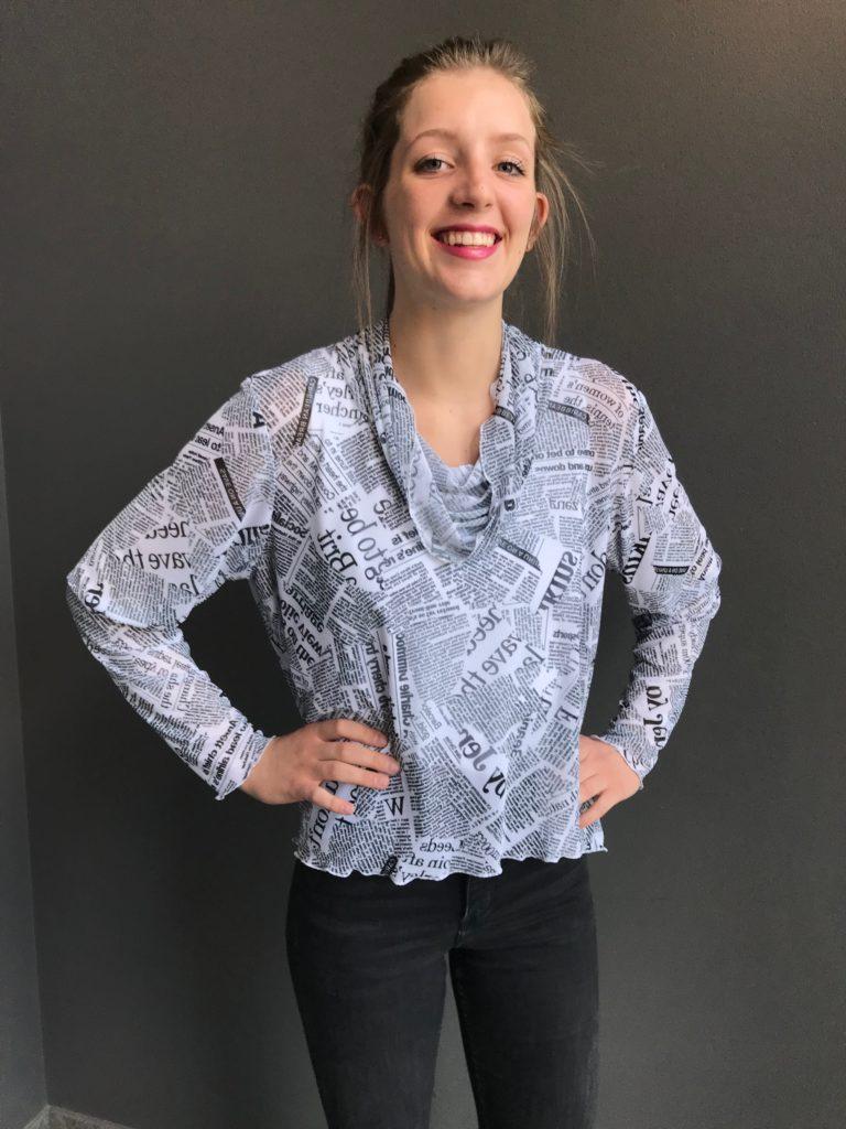 newspaper print tunic top custom womens clothing designer