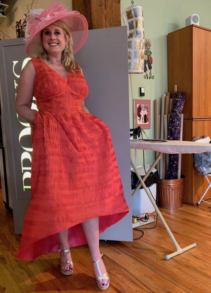 kentucky derby dress custom designed