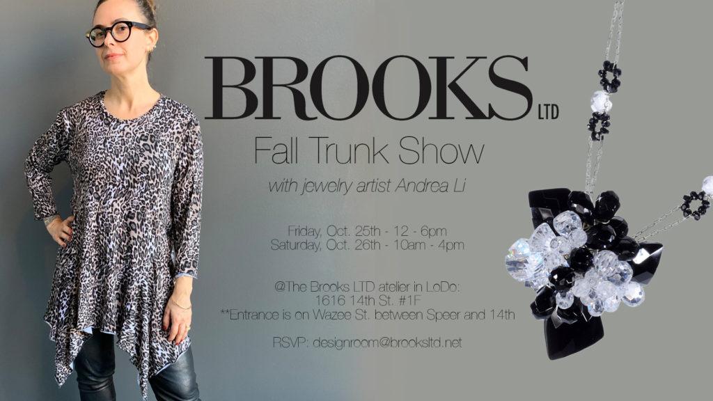 Brooks LTD Denver fall collection trunk show