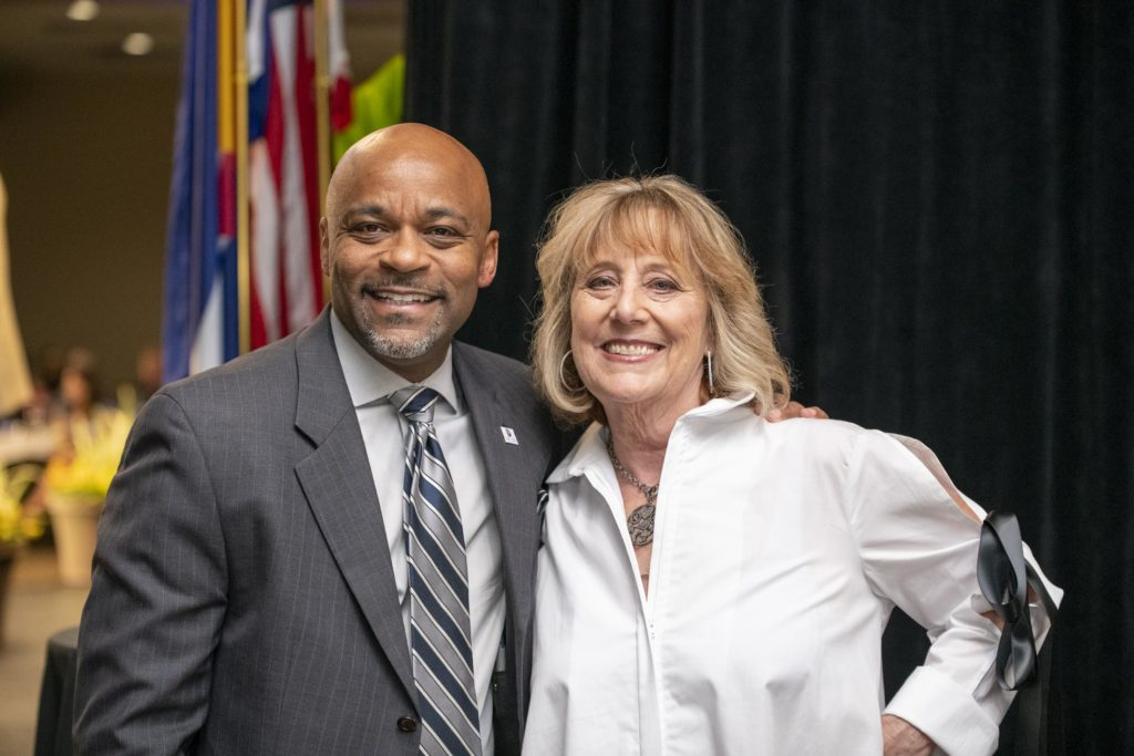 Denver fashion designer Brooks and Mayor Michael Hancock at the Diversity and Inclusion Awards