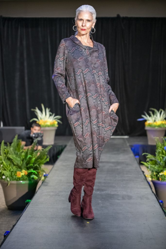 Architectural ponte knit dress handmade by Brooks LTD as seen at the Mayor's Diversity and Inclusion Awards