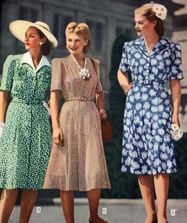 1944 shirtwaist dresses from catalog