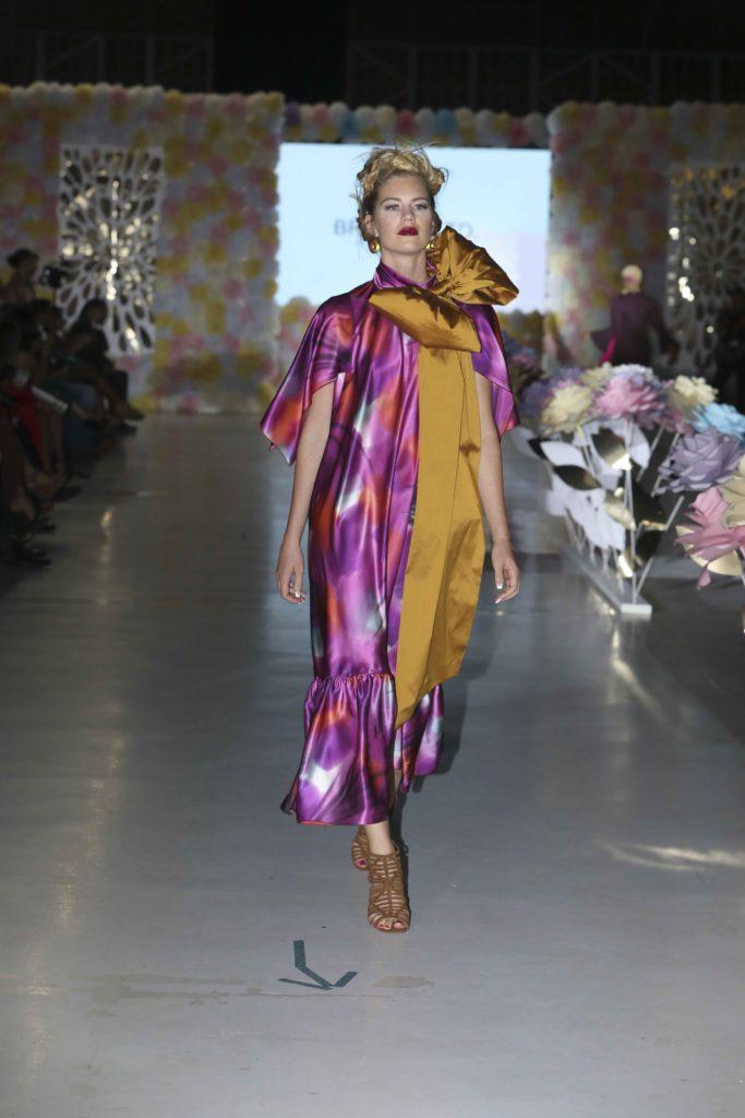A modified shirtwaist dress by Brooks LTD seen at Latin Fashion Week Colorado