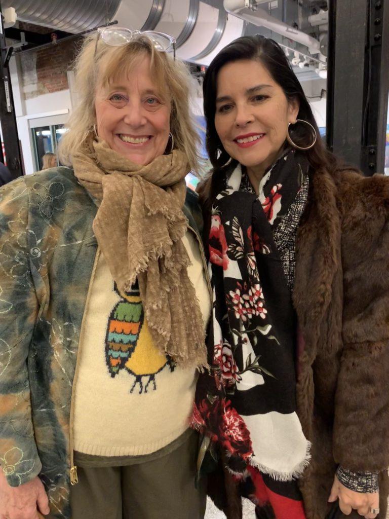 Denver fashion designer Mona Lucero and I, post talk