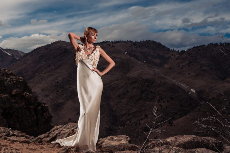 A Custom Wedding Dress Fit For a Mountain Wedding