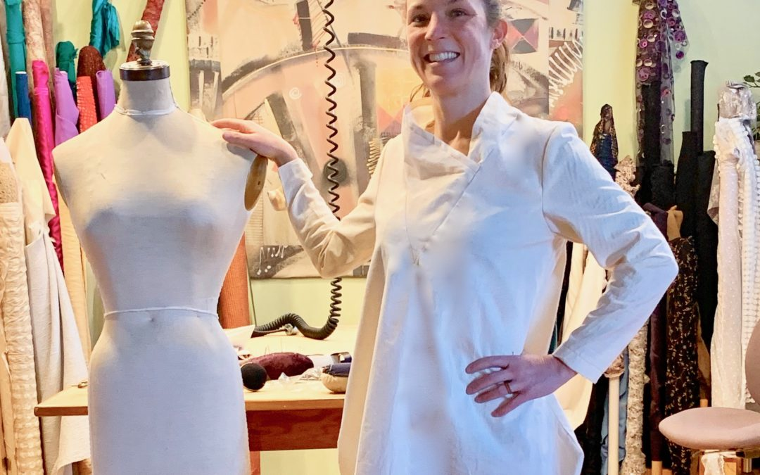 Using Fabric as an Inspiration for a One-of-a-Kind Garment