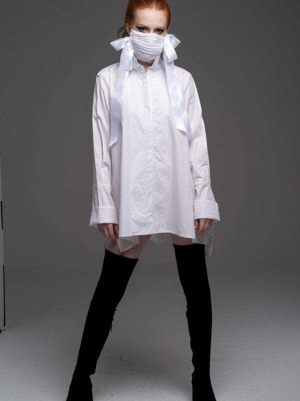 Women's White Cotton Tunic