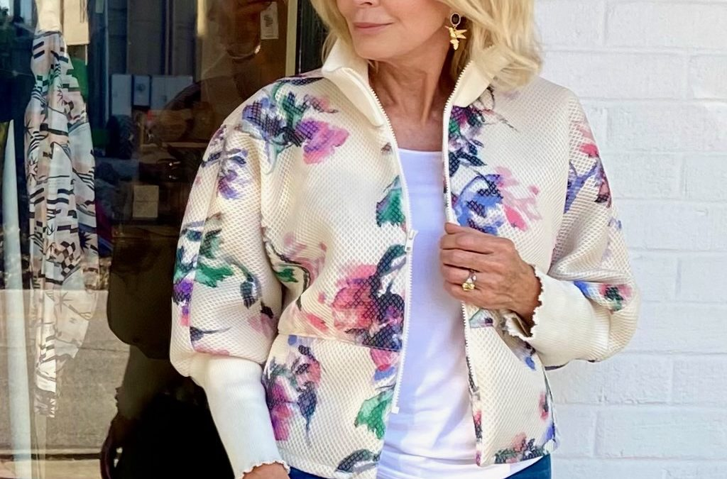 Baseball style jackets for women